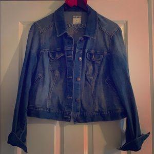 PLUS SIZE! Stylish women's crop too denim jacket